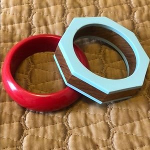 BEAUTIFUL VINTAGE BRACELETS RED AND BLUE
